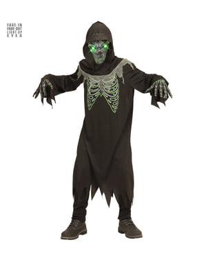 Disfraz de muerte roba almas luminoso para niño