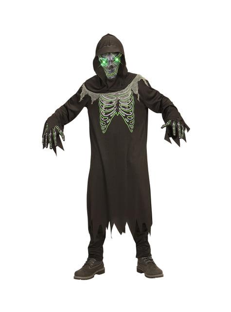 Leuchtendes Seelenräuber-Tod Kostüm für Jungen