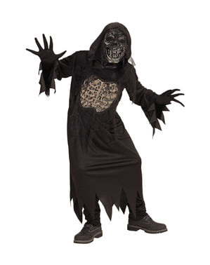 Maskeraddräkt demon i mörkret för barn