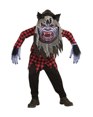 Fato de lobisomem aterrador gigante infantil