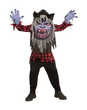 Schreckenerregendes Werwolf Kostüm für Kinder