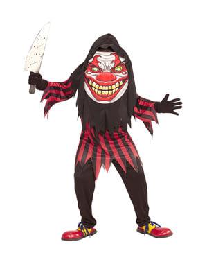 Costume da pagliaccio horror gigante per bambini