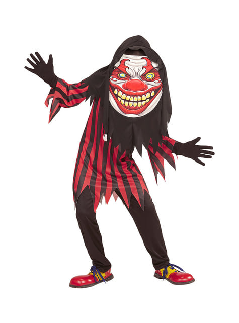 Fato de palhaço horroroso gigante infantil