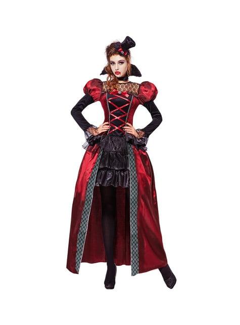 Fato de vampira vitoriana elegante para mulher