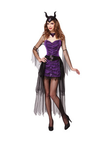 Koningin malefide kostuum paars voor vrouwen