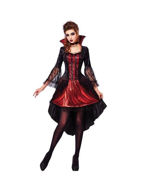 Women's elegant sexy vampire costume