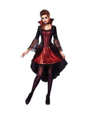 Maskeraddräkt vampyrinna elegant och sexig dam