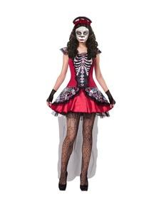 Disfraz de Catrina huesitos día de los muertos para mujer