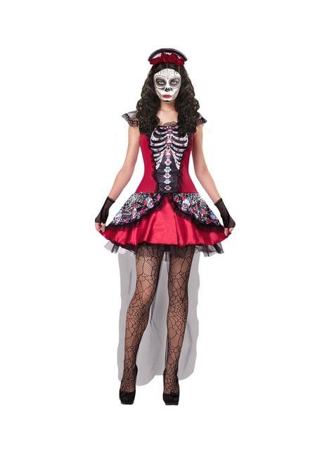 Women's Day of the Dead Catrina bone costume