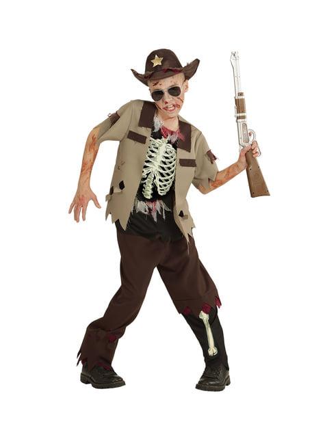 Disfraz de sheriff zombie para niño