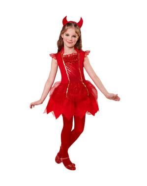 Girls' charming little devil costume