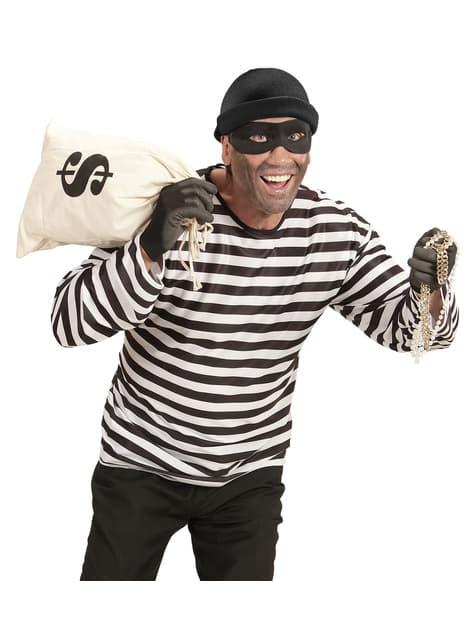 Fato de ladrão ambicioso para homem