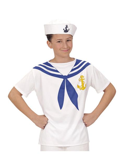 Fato de marinheiro valente para menino