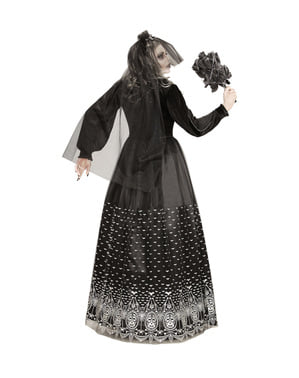 Dark Halloween שלד כלת תלבושות עבור נשים