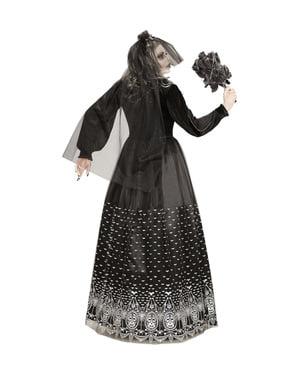 Disfraz de novia halloween esqueleto de la oscuridad para mujer