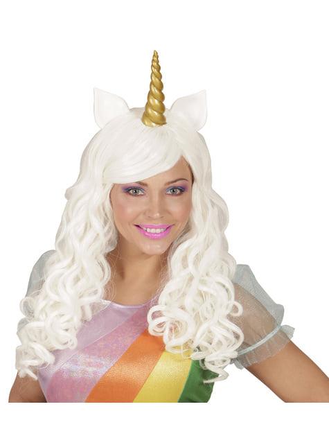 Дамска перука с бял еднорог