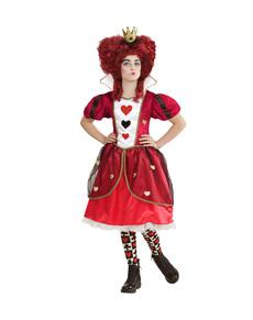 Disfraz de reina de corazones malvada para niña