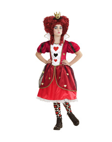 Girls' evil Queen of Hearts costume