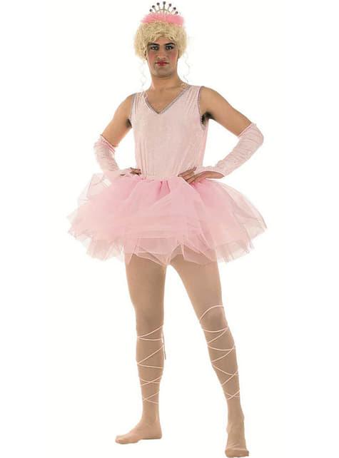 Roze ballerinakostuum met tutu voor mannen