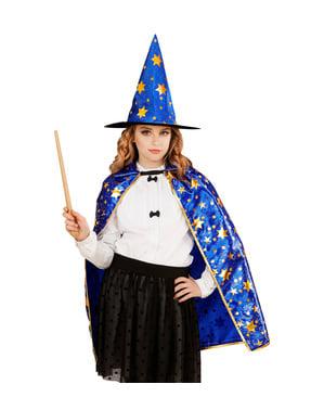 Maskeraddräkt trollkarl med stjärnor för barn