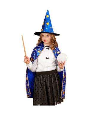 Disfraz de mago con estrellas infantil