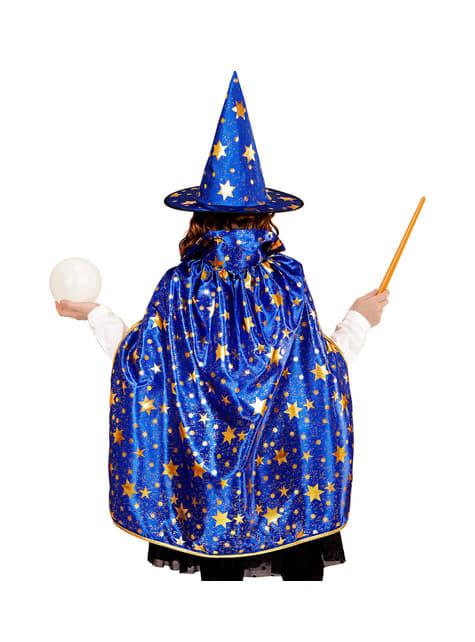 Disfraz de mago con estrellas infantil - original