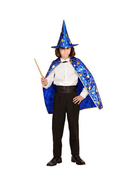 Disfraz de mago con estrellas infantil - traje