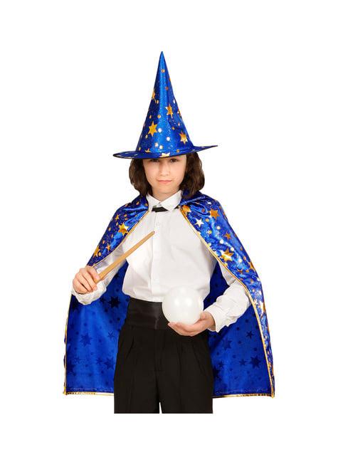Disfraz de mago con estrellas infantil - Halloween