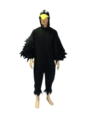 Adults' nocturnal crow costume