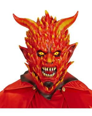 Maska diabeł w płomieniach dla dorosłego