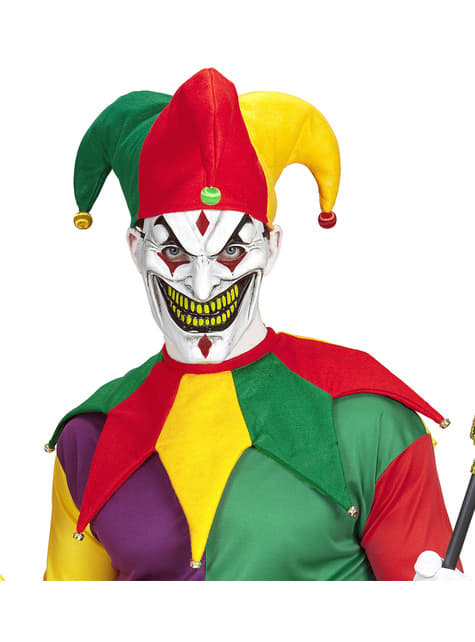 Kit disfraz de bufón multicolor para adulto - adulto