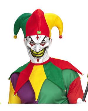 Multi kleuren nar kostuum set voor volwassenen