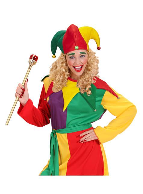 Kit disfraz de bufón multicolor para adulto - original