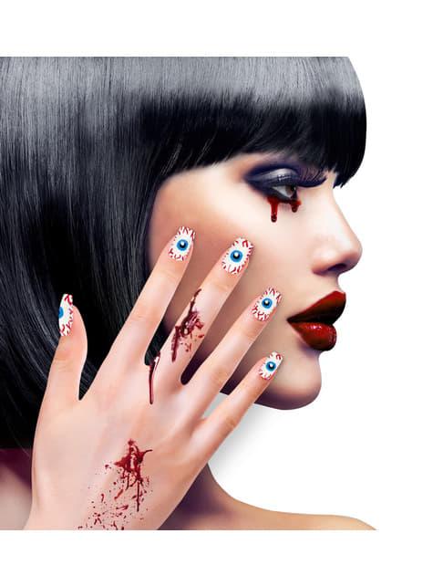 Uñas de ojos adhesivas para mujer - para tu disfraz