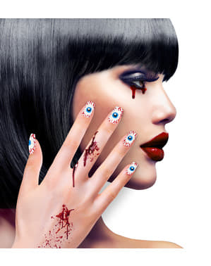 False nails with eyes for women