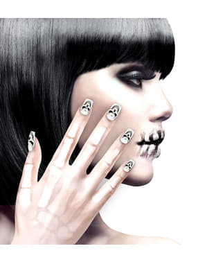 False skull nails for women