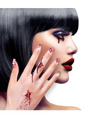 Haftende blutüberströmte Fingernägel für Frauen