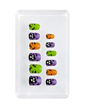 Uñas de casa encantada adhesivas para niña