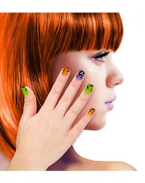 Sztuczne paznokcie z nawiedzonym domem damskie
