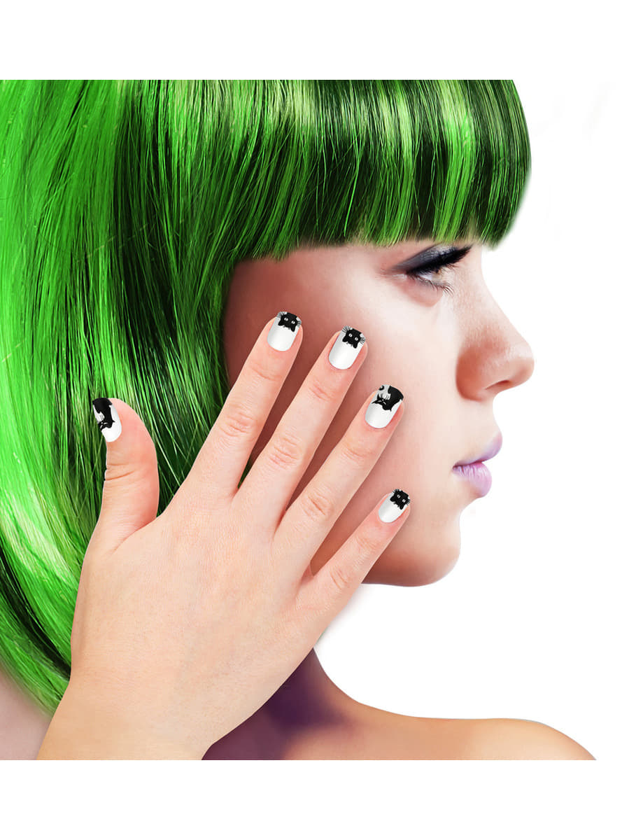 False nails with cats for women | Funidelia