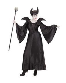 Costum de vrăjitoare malefică culoare închisă pentru femeie