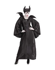 Disfraz de bruja maléfica oscura para mujer