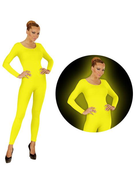 Body amarillo fluorescente para mujer - para tu disfraz