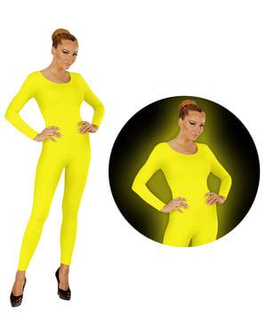 Body jaune fluorescent femme
