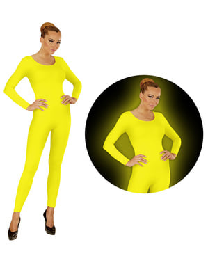 Přiléhavý obleky fluorescenční žlutý