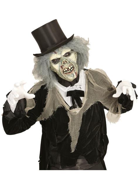 Máscara de zombie descompuesto con peluca para adulto - para tu disfraz