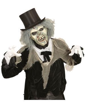 Maske auseinandergefallener Zombie mit Perücke für Erwachsene