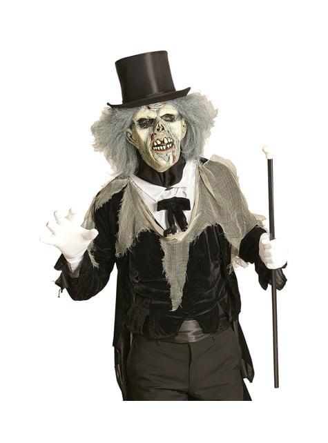 Máscara de zombie descompuesto con peluca para adulto - original