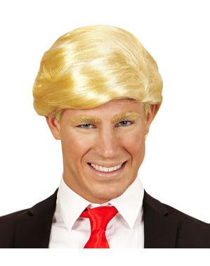 Peluca de presidente Trump para hombre