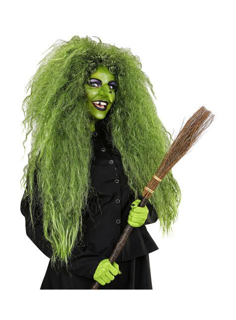 Peluca de bruja verde para mujer - para tu disfraz
